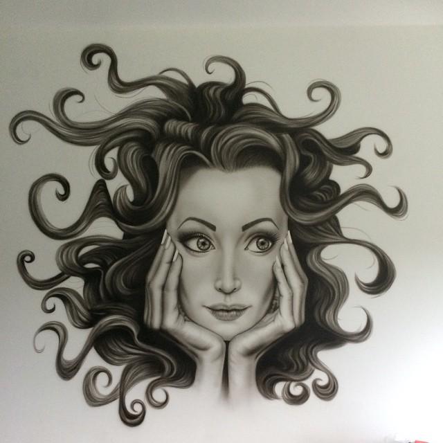 Muurschildering @Alina Umbres