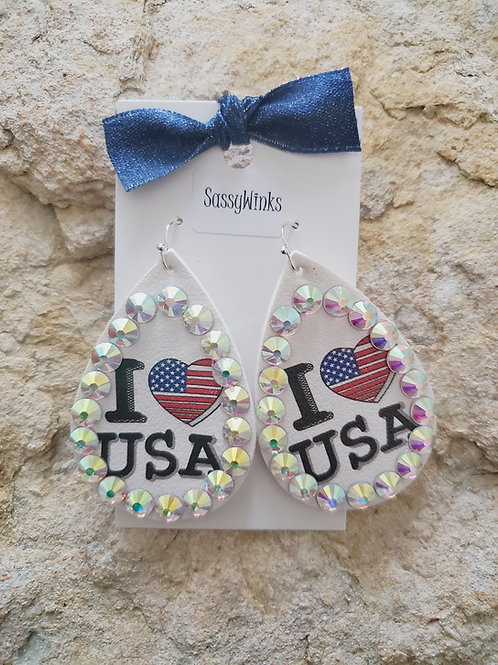 USA Sparkle Teardrops (672)