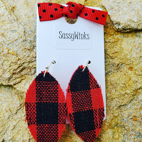 Buffalo Plaid Teardrops (200)