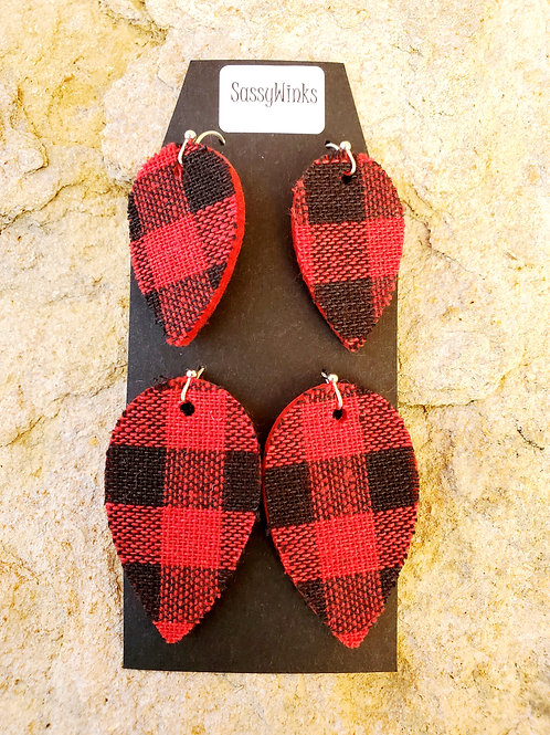 Mommy & Me Buffalo Plaid Teardrops (362)