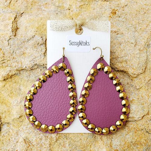 Purple Sparkle Teardrops (436)