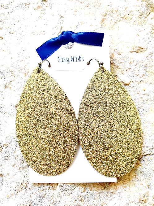 Gold Glitter Teardrops (317)