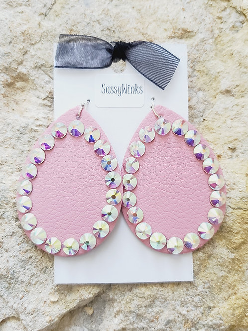 Cotton Candy Pink Sparkle Teardrops (453)