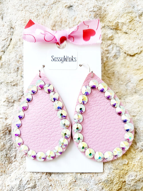 Cotton Candy Pink Sparkle Teardrops (330)