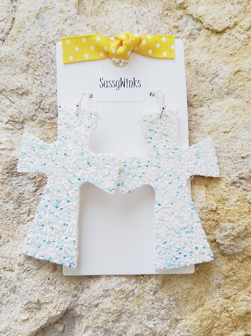 White Glitter Crosses (439)