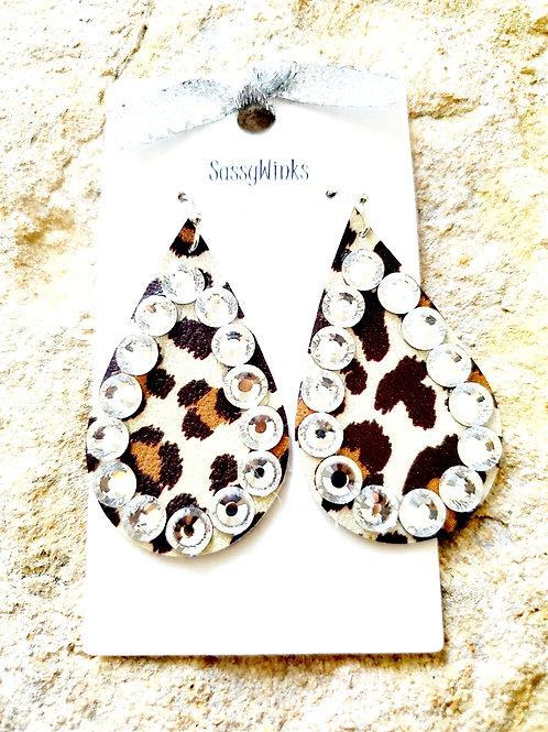 Leopard Sparkle Teardrops (287)