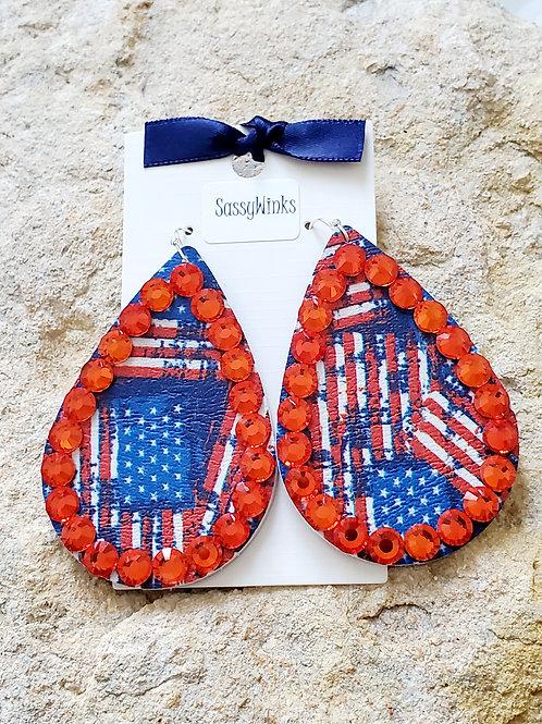 Patriotic Sparkle Teardrops (184)