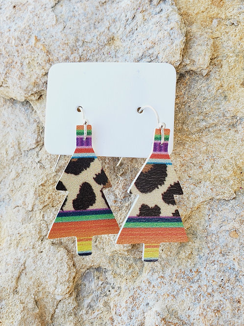 Cheetah Serape Christmas Tree Minis (201)