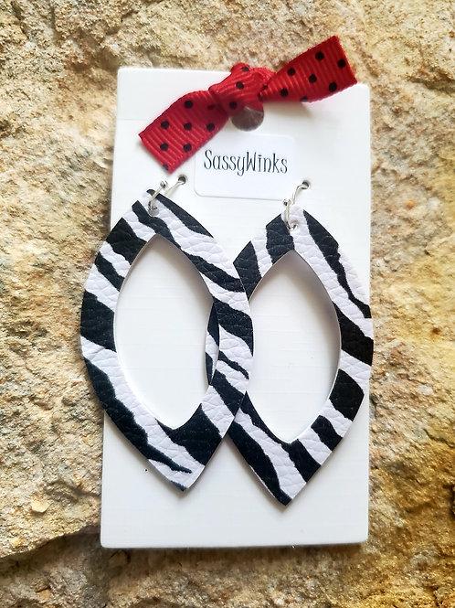 Zebra Open Oval Teardrops (117)