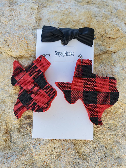 Buffalo Plaid Texas Earrings (103)
