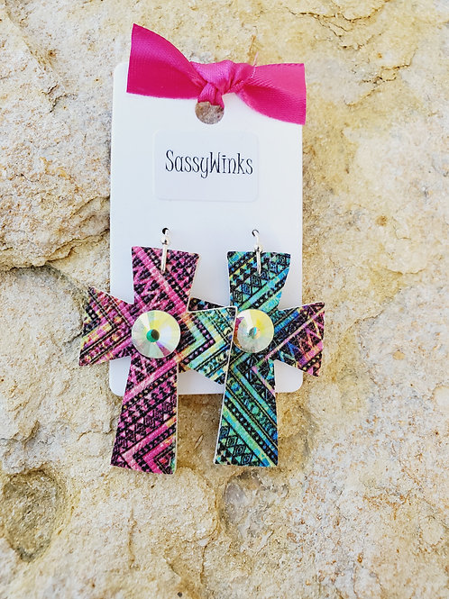Rainbow Aztec Mini Crosses (134)