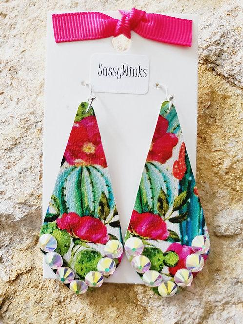 Succulent Sparkle Slender Teardrops (630)