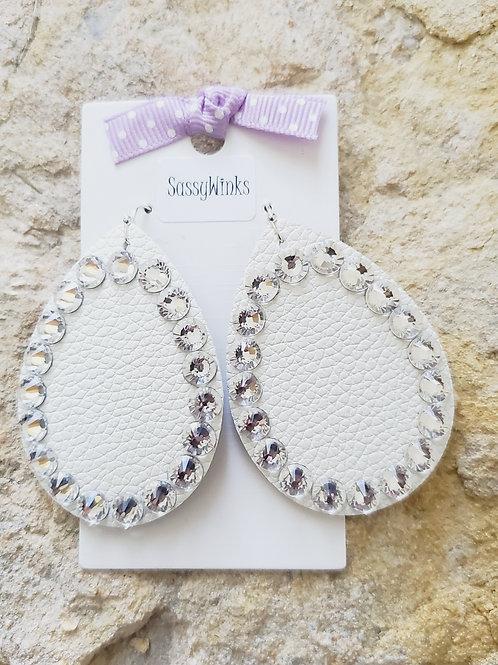 Lily White Sparkle Teardrops (174)