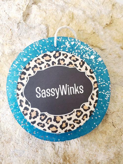 Glitter SassyWinks Freshies - Turquoise