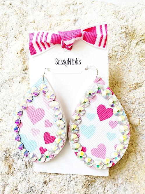 Valentine Hearts Sparkle Teardrops (331)