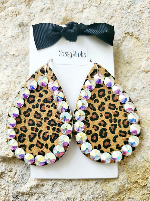 Cheetah Sparkle Teardrops (301)