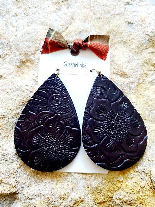 Chocolate Embossed Teardrops (176)