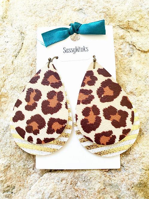 Leopard Gold Stripe Layers (332)