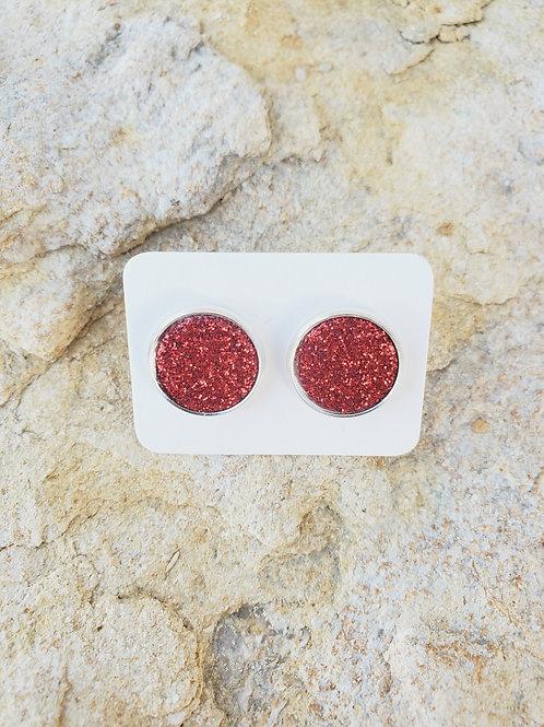 Red Glitter Studs (692)