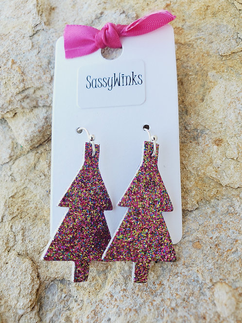 Sangria Glitter Christmas Tree Minis (664)