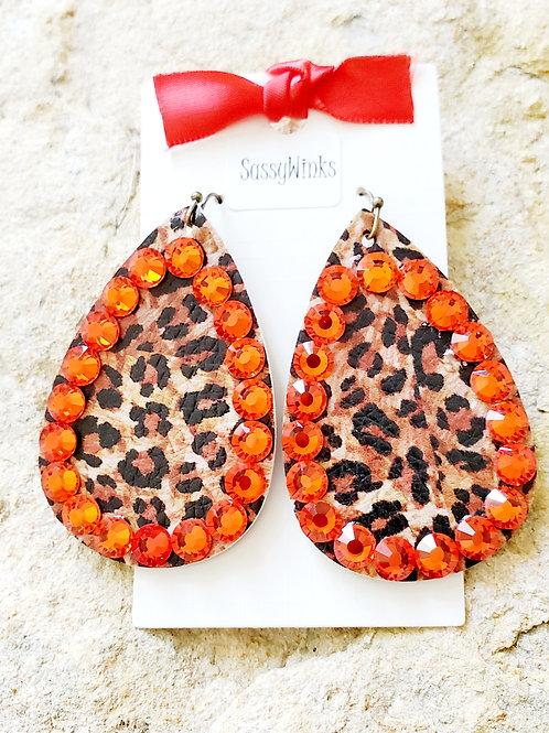 Leopard Sparkle Teardrops (220)