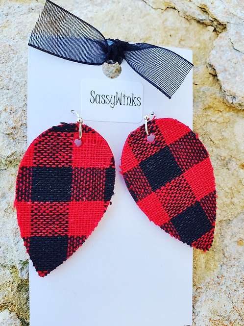 Buffalo Plaid Teardrops (218)