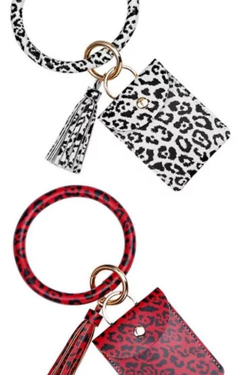 Leopard Wristlets w/ Tassel