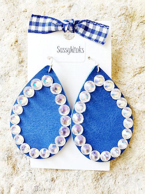 Blue Sparkle Teardrops (334)