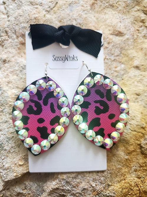 Hot Pink Leopard Sparkles (541)