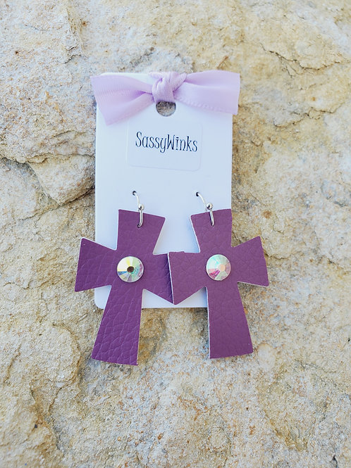 Plum Mini Crosses (261)