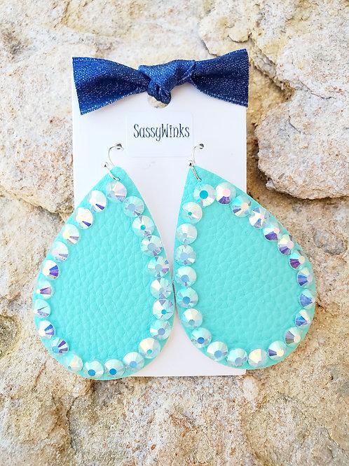 Mint Sparkle Teardrops (584)