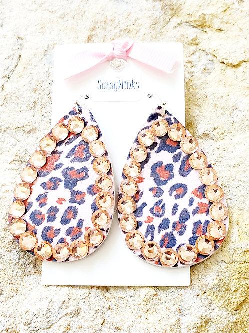 Leopard Sparkle Teardrops (226)