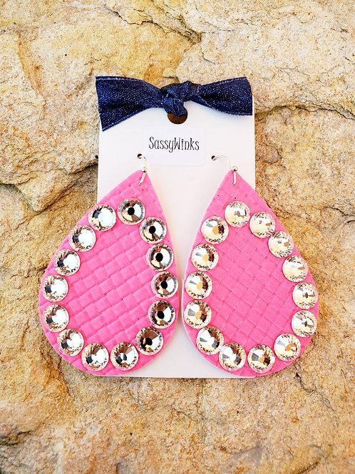 Hot Pink Sparkle Teardrops (591)