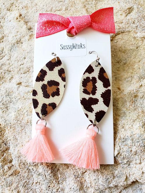 Leopard Peach Tassels (112)