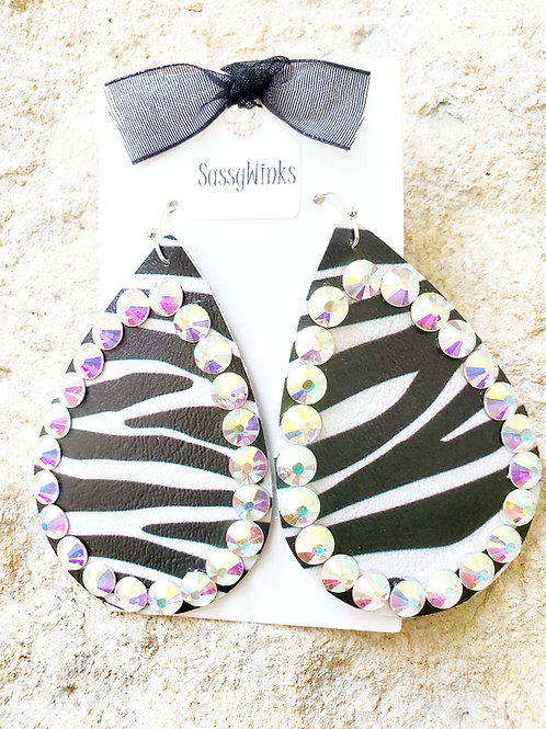 Zebra Sparkle Teardrops (120)