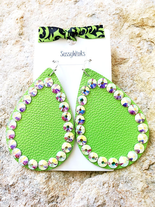 Lime Green Teardrops (154)