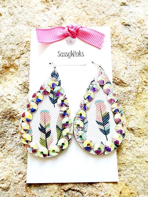 Feather Sparkle Teardrops (171)