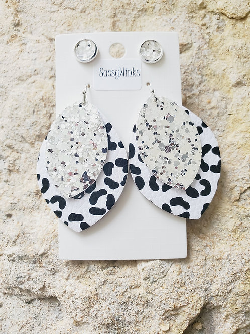 Cheetah Layered Teardrops & Studs (410)