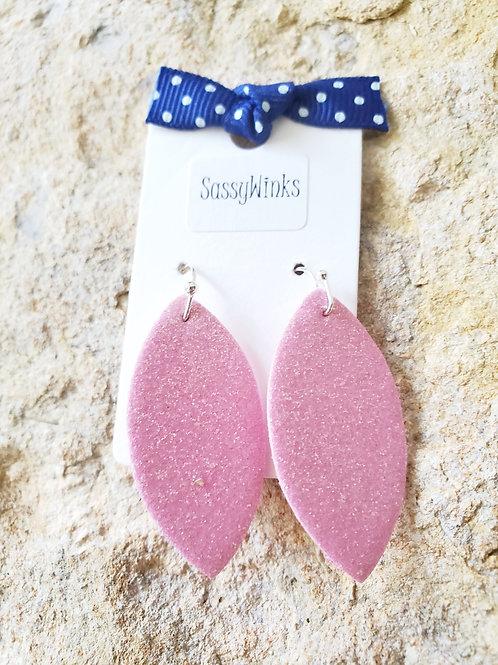 Pink Glitter Mini Teardrops (161)