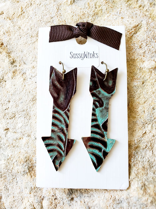 Turquoise Leather Arrows (114)
