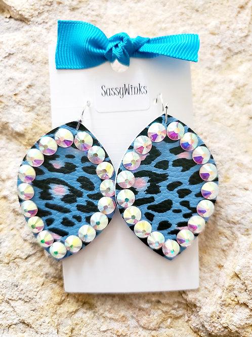 Blue Cheetah Sparkles (284)