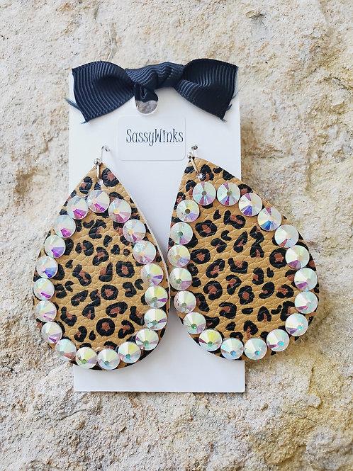 Cheetah Sparkle Teardrops (473)