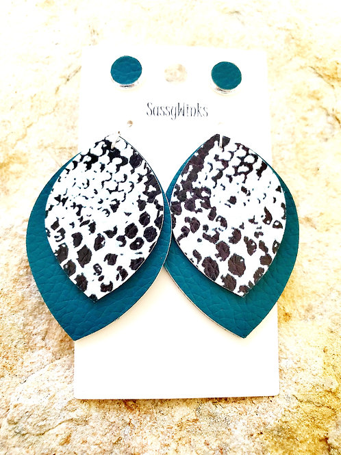 Teal Snakeskin Layers & Studs (364)