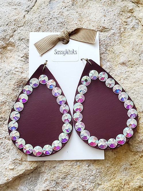 Wine Sparkle Teardrops (183)