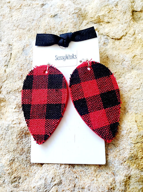 Buffalo Plaid Reverse Teardrops (162)