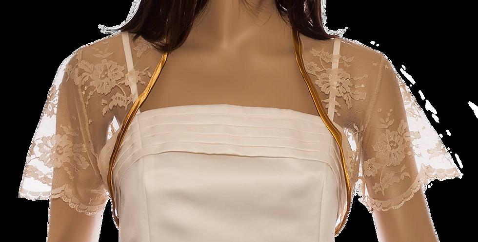 Antique Gold Lace Bolero - Short Sleeve