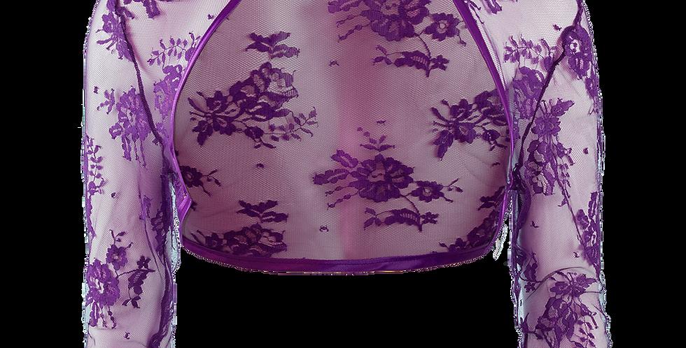 Violet Lace Bolero - ¾ Sleeve