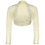 Thumbnail: Ivory Windsor Lace Bolero - Long Straight Sleeve