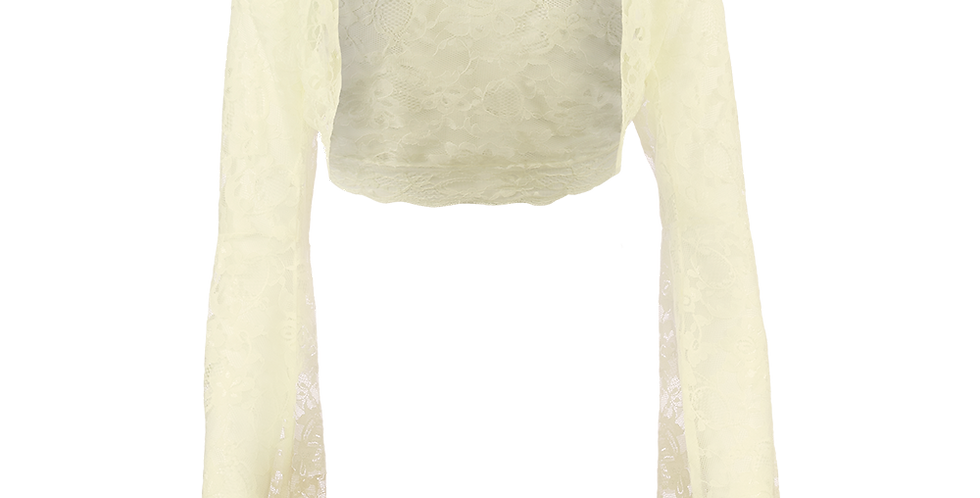 Ivory Lace Bolero - Bell Sleeve