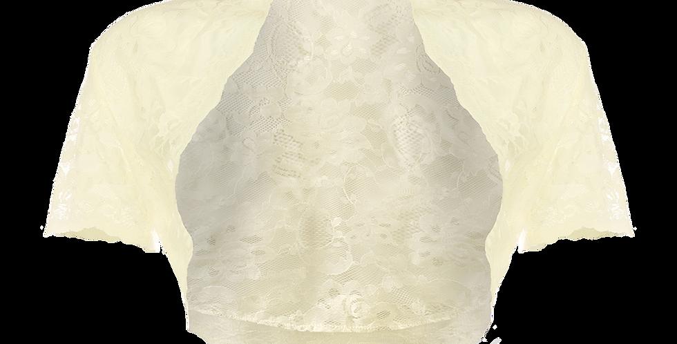 Ivory Lace Bolero - Short Sleeve